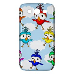 Cute Colorful Birds  Samsung Galaxy Mega 5 8 I9152 Hardshell Case  by Valentinaart