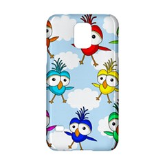 Cute Colorful Birds  Samsung Galaxy S5 Hardshell Case  by Valentinaart