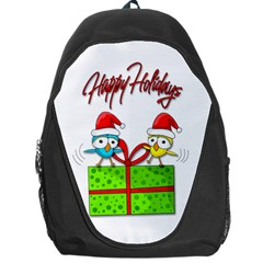 Cute Xmas Birds Backpack Bag by Valentinaart
