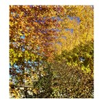Autumn Tree Op Art with Kitten Shower Curtain 66  x 72  (Large) 58.75 x64.8  Curtain