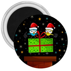 Cute Christmas Birds 3  Magnets