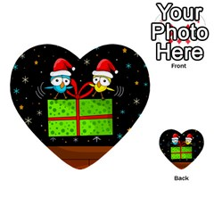 Cute Christmas Birds Multi Purpose Cards (heart)  by Valentinaart