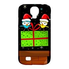 Cute Christmas Birds Samsung Galaxy S4 Classic Hardshell Case (pc+silicone) by Valentinaart