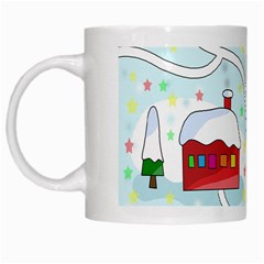 Winter Magical Landscape White Mugs by Valentinaart