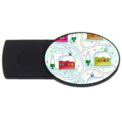 Winter Magical Landscape Usb Flash Drive Oval (2 Gb)  by Valentinaart
