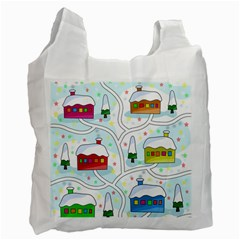 Winter Magical Landscape Recycle Bag (two Side)  by Valentinaart
