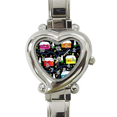 Winter Magical Night Heart Italian Charm Watch by Valentinaart