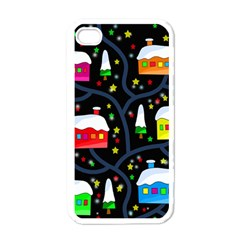 Winter Magical Night Apple Iphone 4 Case (white) by Valentinaart