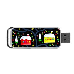 Winter Magical Night Portable Usb Flash (two Sides) by Valentinaart
