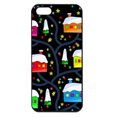 Winter Magical Night Apple Iphone 5 Seamless Case (black) by Valentinaart