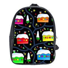 Winter Magical Night School Bags (xl)  by Valentinaart