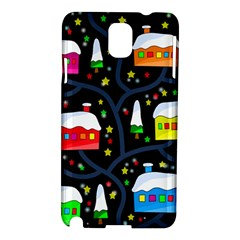 Winter Magical Night Samsung Galaxy Note 3 N9005 Hardshell Case by Valentinaart