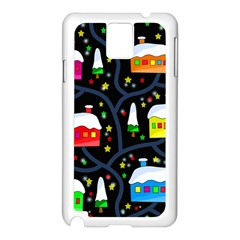 Winter Magical Night Samsung Galaxy Note 3 N9005 Case (white) by Valentinaart