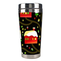 Winter  Night  Stainless Steel Travel Tumblers by Valentinaart