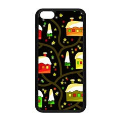 Winter  Night  Apple Iphone 5c Seamless Case (black)
