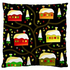 Winter  Night  Large Flano Cushion Case (two Sides)