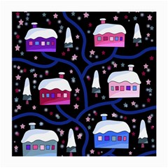 Magical Xmas Night Medium Glasses Cloth by Valentinaart