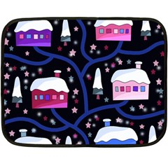Magical Xmas Night Fleece Blanket (mini) by Valentinaart