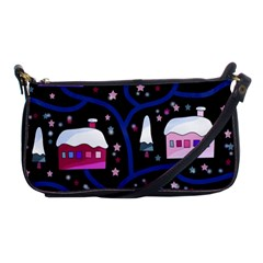Magical Xmas Night Shoulder Clutch Bags by Valentinaart