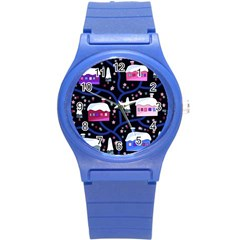 Magical Xmas Night Round Plastic Sport Watch (s)