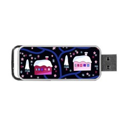 Magical Xmas Night Portable Usb Flash (one Side) by Valentinaart