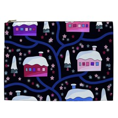 Magical Xmas Night Cosmetic Bag (xxl)  by Valentinaart