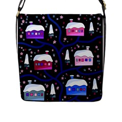 Magical Xmas Night Flap Messenger Bag (l)