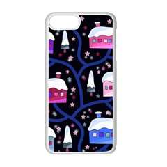 Magical Xmas Night Apple Iphone 7 Plus White Seamless Case by Valentinaart