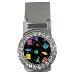 Colorful Floral Design Money Clips (cz)