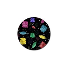 Colorful Floral Design Golf Ball Marker by Valentinaart