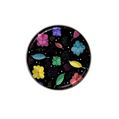Colorful Floral Design Hat Clip Ball Marker (4 Pack) by Valentinaart