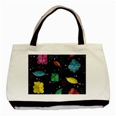 Colorful Floral Design Basic Tote Bag (two Sides) by Valentinaart