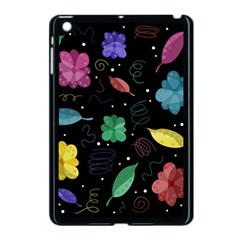 Colorful Floral Design Apple Ipad Mini Case (black) by Valentinaart