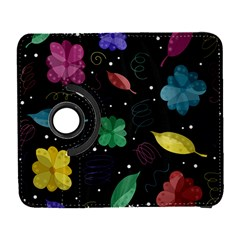 Colorful Floral Design Galaxy S3 (flip/folio) by Valentinaart