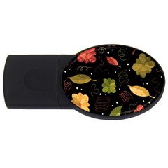 Autumn Flowers  Usb Flash Drive Oval (4 Gb)  by Valentinaart