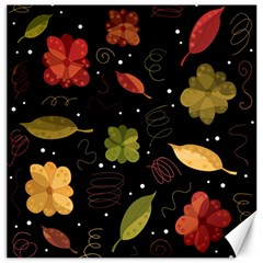 Autumn Flowers  Canvas 12  X 12   by Valentinaart