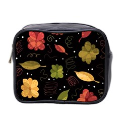 Autumn Flowers  Mini Toiletries Bag 2 Side by Valentinaart