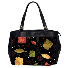Autumn Flowers  Office Handbags (2 Sides)  by Valentinaart