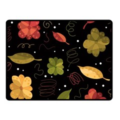Autumn Flowers  Fleece Blanket (small) by Valentinaart