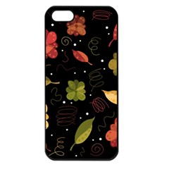 Autumn Flowers  Apple Iphone 5 Seamless Case (black) by Valentinaart