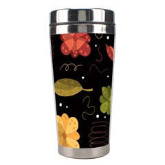 Autumn Flowers  Stainless Steel Travel Tumblers by Valentinaart