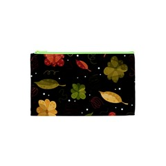 Autumn Flowers  Cosmetic Bag (xs) by Valentinaart