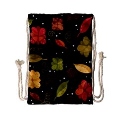 Autumn Flowers  Drawstring Bag (small) by Valentinaart