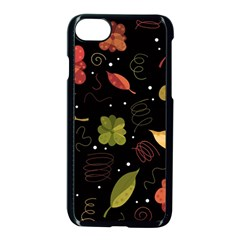 Autumn Flowers  Apple Iphone 7 Seamless Case (black) by Valentinaart