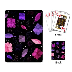 Purple And Pink Flowers  Playing Card by Valentinaart