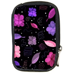 Purple And Pink Flowers  Compact Camera Cases by Valentinaart