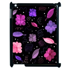 Purple And Pink Flowers  Apple Ipad 2 Case (black) by Valentinaart