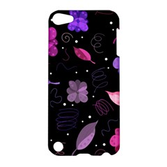 Purple And Pink Flowers  Apple Ipod Touch 5 Hardshell Case by Valentinaart