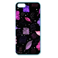 Purple And Pink Flowers  Apple Seamless Iphone 5 Case (color) by Valentinaart