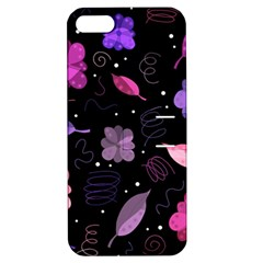 Purple And Pink Flowers  Apple Iphone 5 Hardshell Case With Stand by Valentinaart